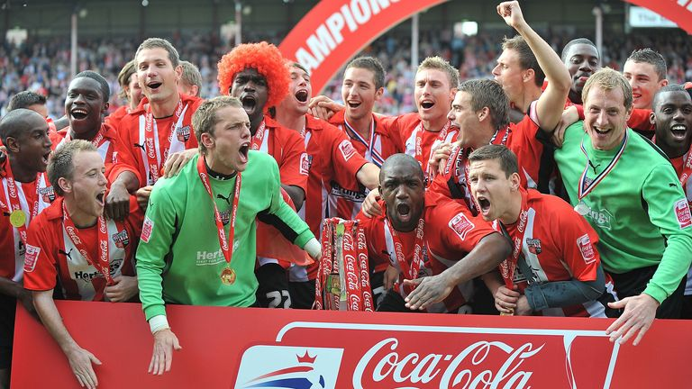 Brentford lifted the League Two title in May 2009