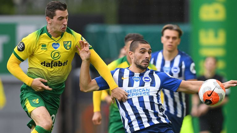 Action from Norwich vs Brighton