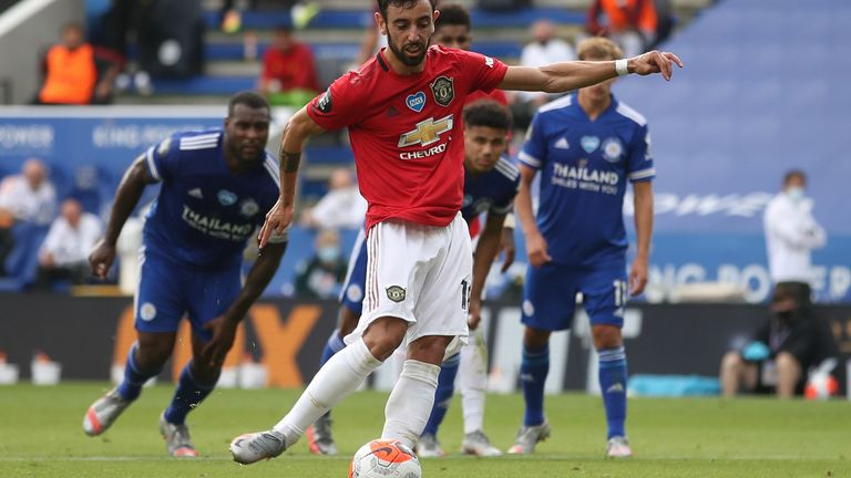 Bruno Fernandes opened the scoring in the 2-0 win