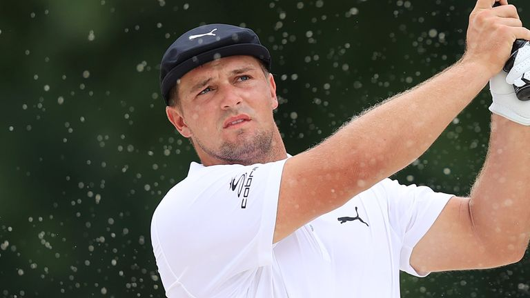 DeChambeau attempted to claim relief from an anthill