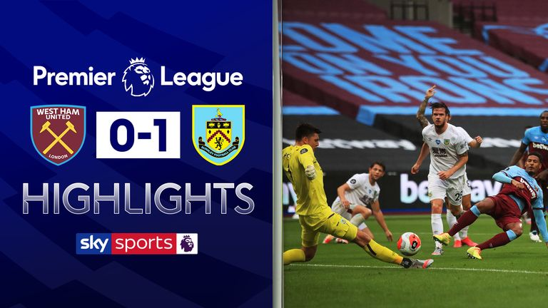 West Ham 0 1 Burnley Nick Pope Stars As Jay Rodriguez Pushes Sean Dyche S Side Towards Europe Football News Sky Sports