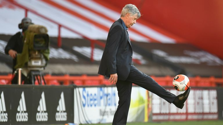 Ancelotti shows he still has close control of the ball at Bramall Lane