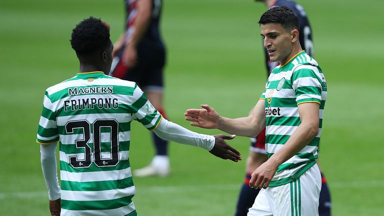 Elyounoussi's smart finish and an own goal from Coll Donaldson handed Neil Lennon's side victory