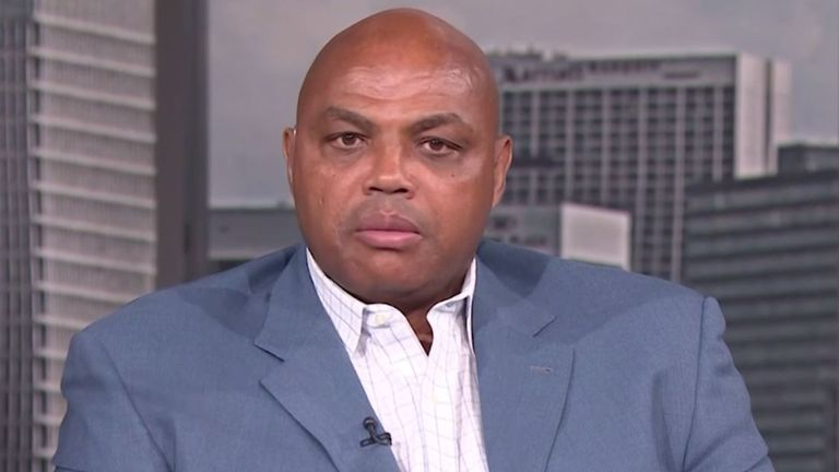 Charles Barkley is interviewed on TNT's The Arena