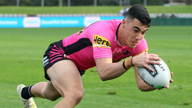 Charlie Staines grabbed four tries on his Penrith debut