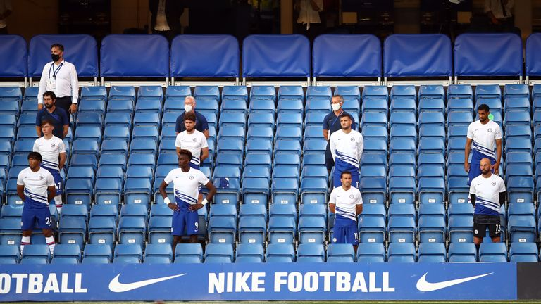 Chelsea substitutes social distancing in the stands