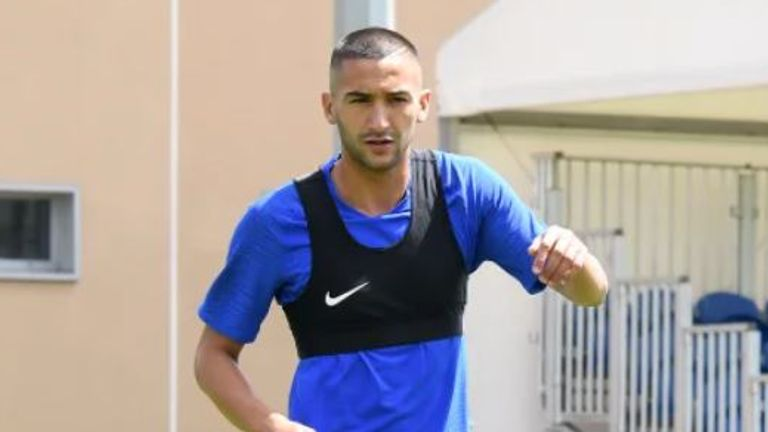 Hakim Ziyech has began 'pre-season' training with Chelsea. Picture credit: Chelsea FC