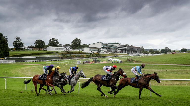 A general view of Chepstow racecourse