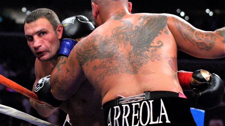 The Ukrainian overpowered Arreola in their Los Angeles fight in 2009