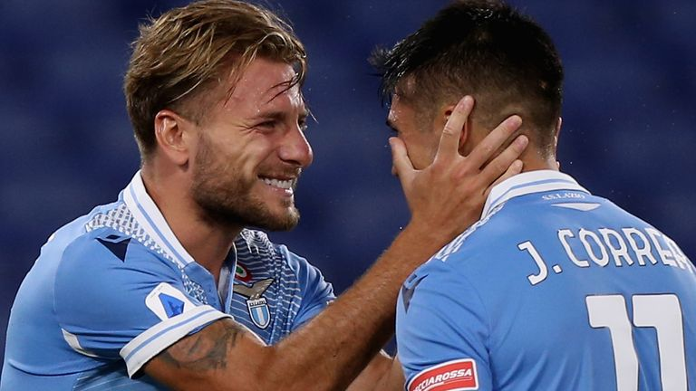 Ciro Immobile and Joaquin Correa both scored for Lazio