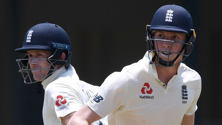 Joe Denly (L) and Zak Crawley are team-mates for Kent and England