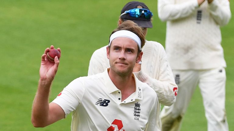 Broad finished with 6-31 in West Indies' first innings at Old Trafford