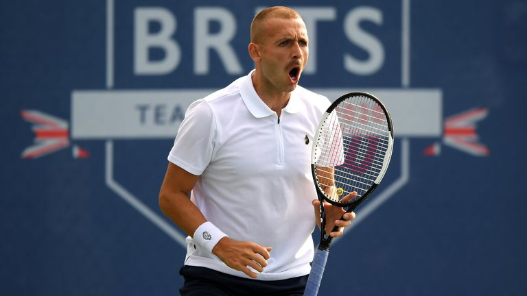 Dan Evans' moustache has been the talk of the Battle of the Brits tournament
