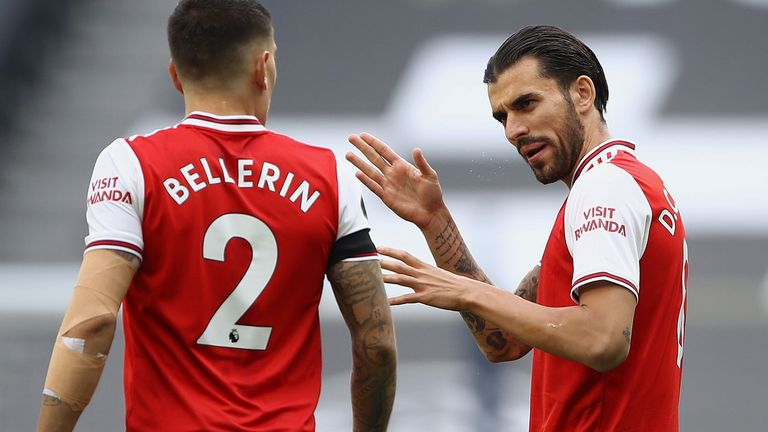 Ceballos is close friends with Hector Bellerin