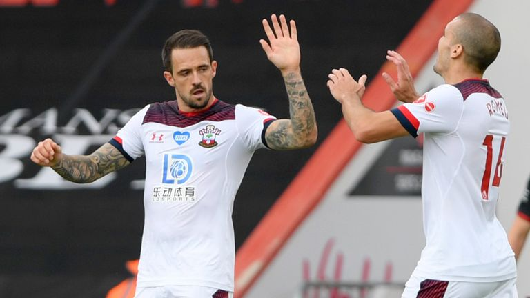 Danny Ings was on target again as he put Southampton ahead against Bournemouth