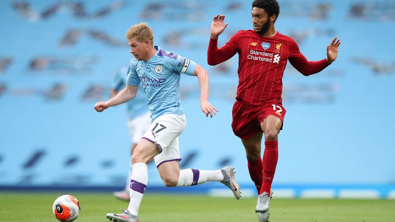 Joe Gomez struggled against City's attacking play
