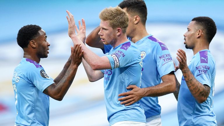De Bruyne converted from the spot to give City the lead