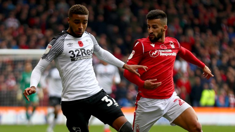 Nottingham Forest will be looking to do the double over local rivals Derby after winning 1-0 at the City Ground in November