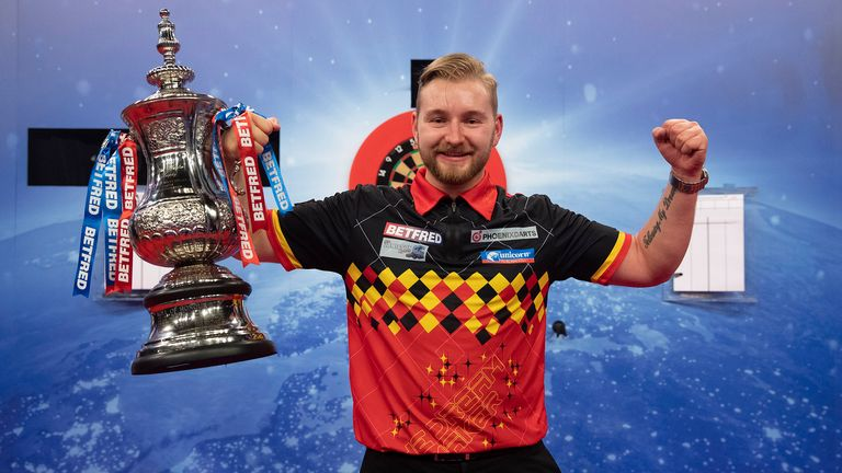 Dimitri Van den Bergh performed magnificently to lift last month's World Matchplay title