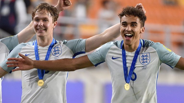 Dominic Calvert-Lewin and Kieran Dowell were both part of England's Under-20 World Cup success