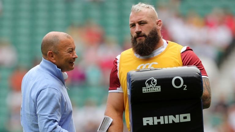 Eddie Jones has backed Joe Marler (right) amid criticism from Sir Clive Woodward