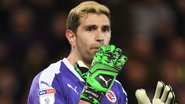 Martinez spent the second half of last season at Reading