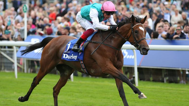 Enable File Photo File photo dated 22-08-2019 of Enable ridden by Frankie Dettori.