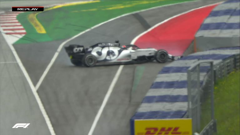 AlphaTauri's Daniil Kvyat spun in second practice for this weekend's season-opener in Austria.