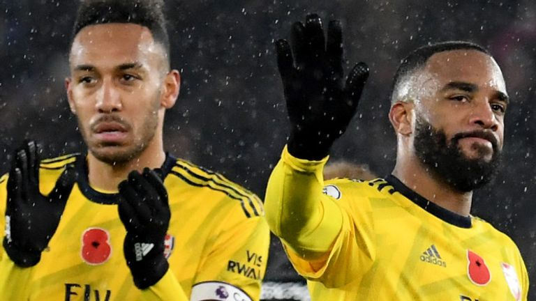 Alexandre Lacazette (right) and Pierre-Emerick Aubameyang