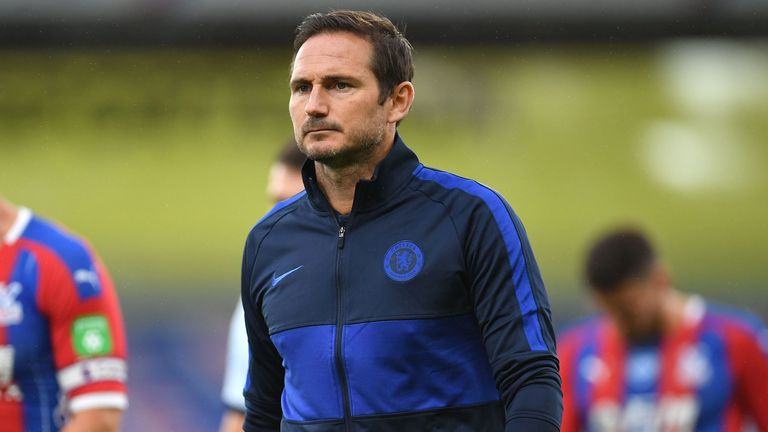 Frank Lampard's Chelsea are targeting a top four finish and a Champions League place