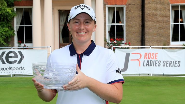 Gemma Dryburgh with the trophy at The Buckinghamshire