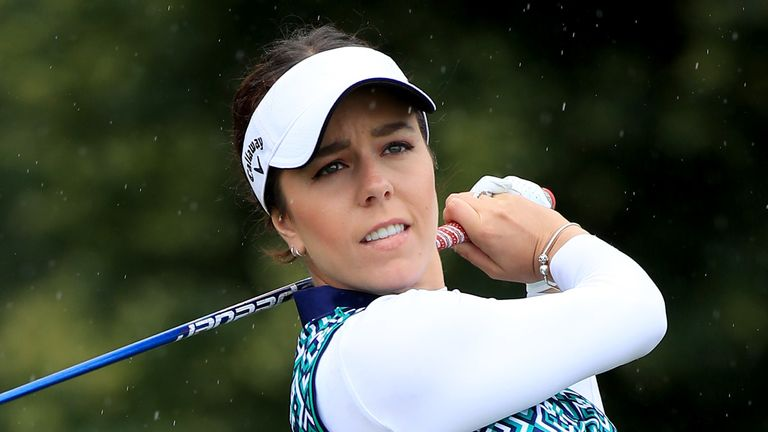 Georgia Hall had to settle for second after she bogeyed the last