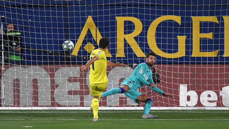 Gerard Moreno netted his 17th goal of the season for Villarreal - but was taken off at half-time