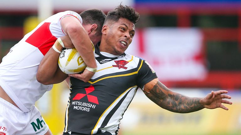 Greg Johnson got the try for Salford which sent the Million Pound Game into golden point