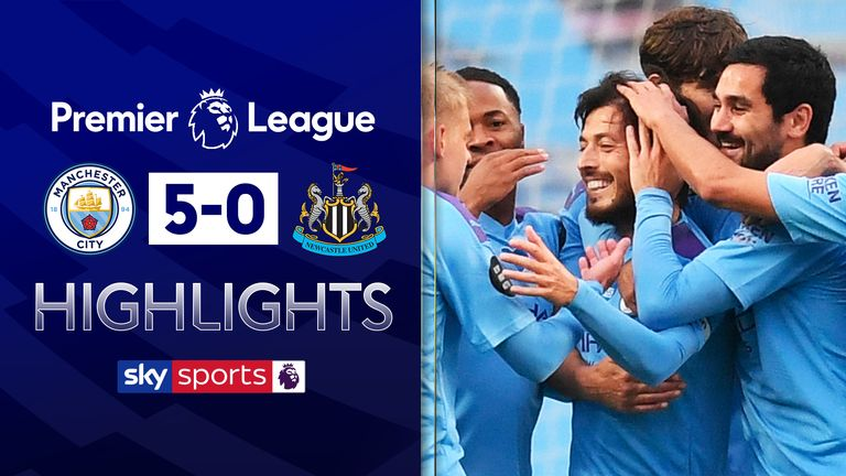 Man City v Newcastle Highlights