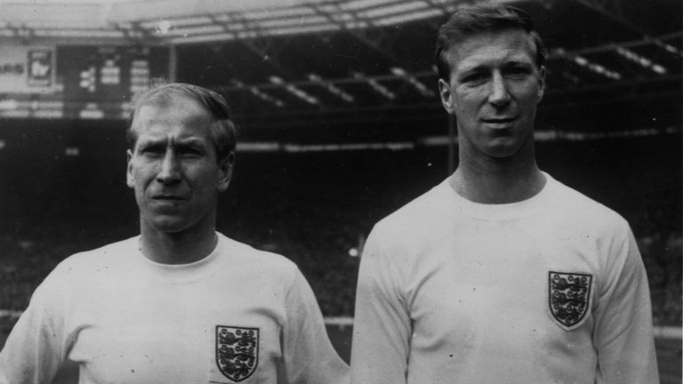 Charlton, seen here alongside his brother Bobby, was a key figure as England won the 1966 World Cup