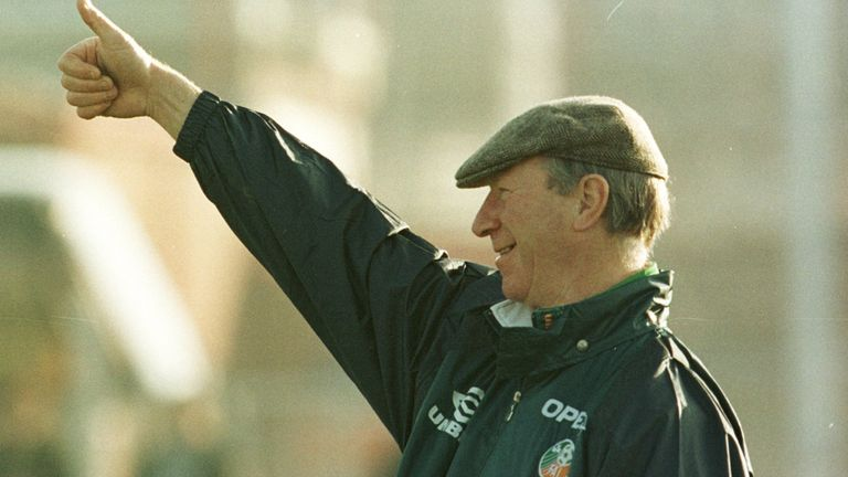 Charlton managed the Republic of Ireland for 10 years between 1986 and 1996