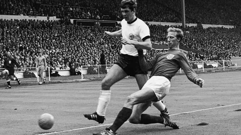 Charlton played every game in England's successful World Cup-winning campaign in 1966