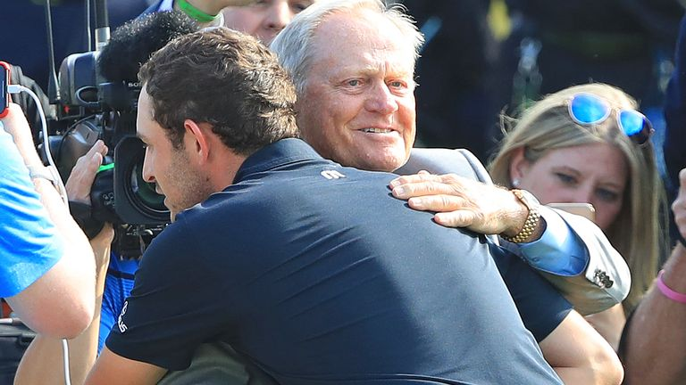 Jack Nicklaus says handshakes will continue this week at the Memorial Tournament