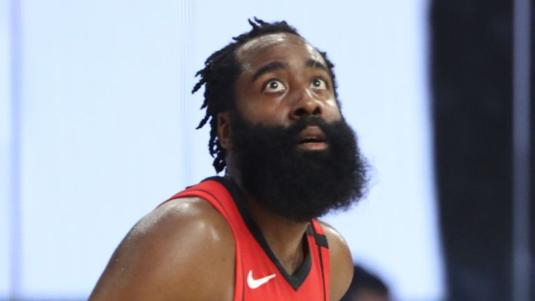 James Harden in action for the Houston Rockets against the Memphis Grizzlies