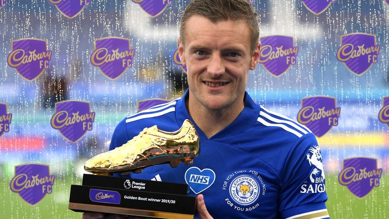 Jamie Vardy lifted the Premier League Golden Boot for the first time in his career.