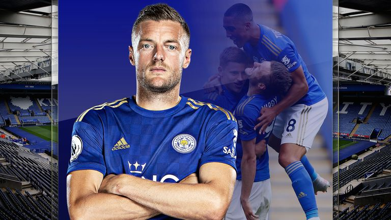 Leicester City striker Jamie Vardy has joined the Premier League 100 club