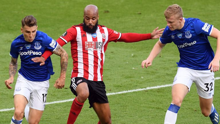 Jarrad Branthwaite, right, impressed during the 1-0 win over Sheffield United