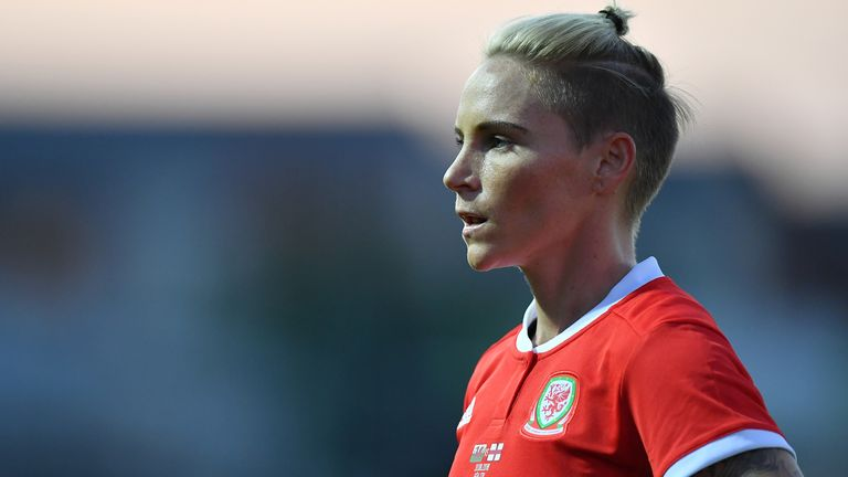 NEWPORT, WALES - AUGUST 31: Jessica Fishlock of Wales in action during the Women's World Cup qualifier between Wales Women and England Women at Rodney Parade on August 31, 2018 in Newport, Wales. (Photo by Dan Mullan/Getty Images)