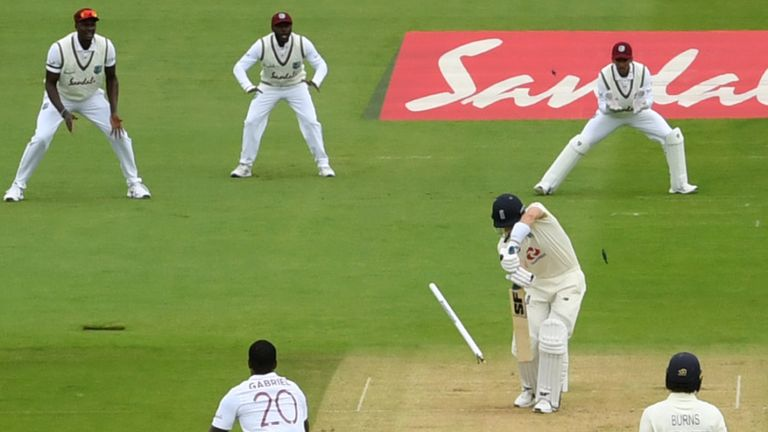 Denly made 18 before he was bowled by Shannon Gabriel in England's first innings at the Ageas Bowl
