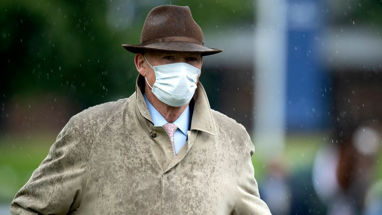 Ascot Races - 25th July Horse trainer John Gosden in the parade ring prior to his horse Enable winning the King George VI and Queen Elizabeth QIPCO Stakes at Ascot Racecourse.