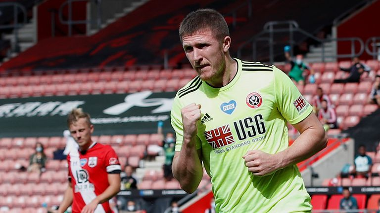 John Lundstram puts Sheffield United 1-0 up at St Mary's