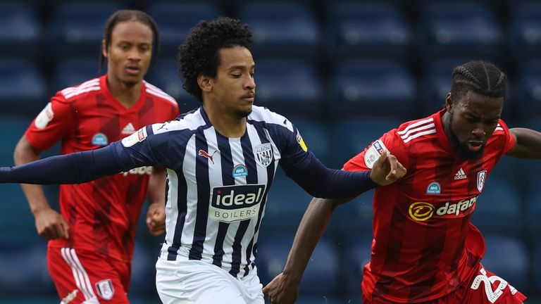 Matheus Pereira and Josh Onomah in action during West Brom vs Fulham