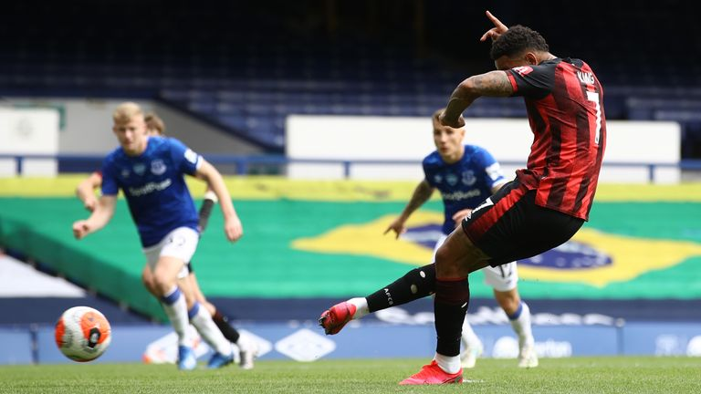 Joshua King scores from the penalty spot