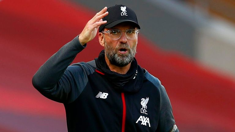Jurgen Klopp cut a frustrated figure as the champions were held by Burnley